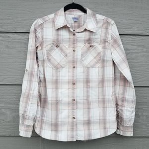 Carhartt button down flannel spandex work shirt